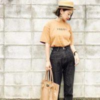 シンプルなTシャツでカジュアルコーデ☆夏のTシャツコーデ特集!