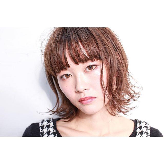 【ボブ】前髪ぱっつん髪型集10