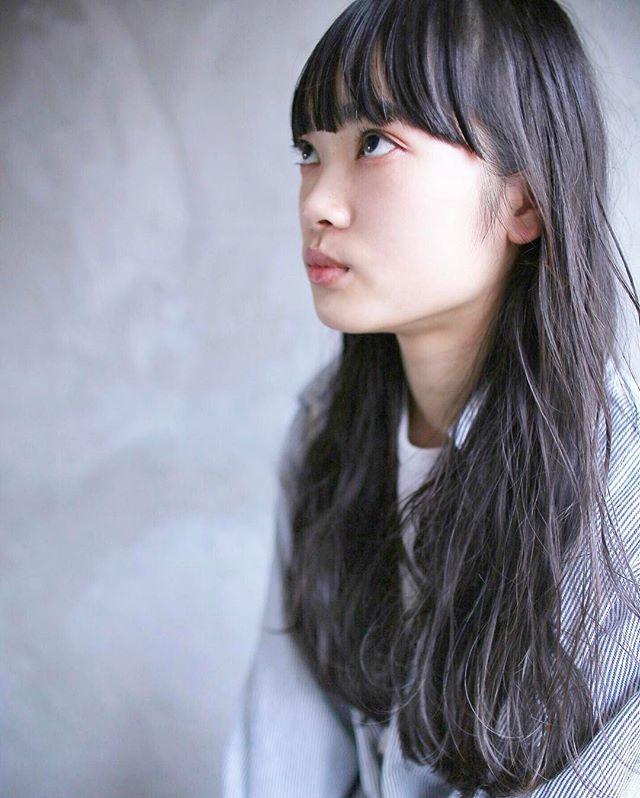 【ロング】前髪ぱっつん髪型集17