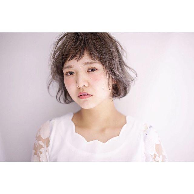 【ボブ】前髪ぱっつん髪型集13