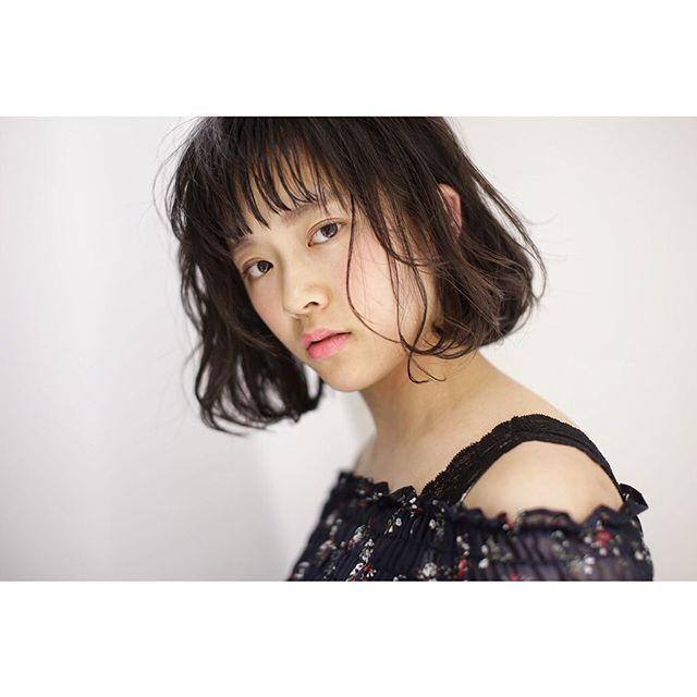 【ボブ】前髪ぱっつん髪型集15