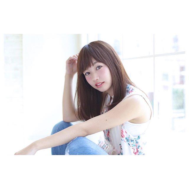 【ミディアム】前髪ぱっつん髪型集21