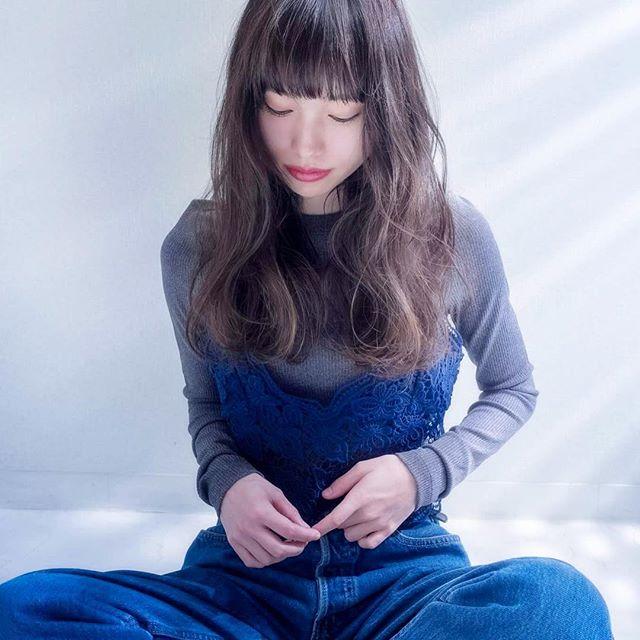 【ロング】前髪ぱっつん髪型集15