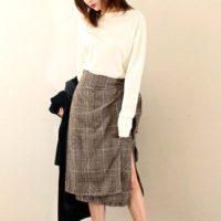 グレンチェックスカートを使ったコーデ15選♡今季注目のおしゃれスカートで魅力アップ♪