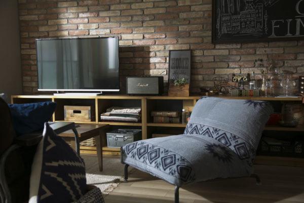 テレビの壁面収納実例5