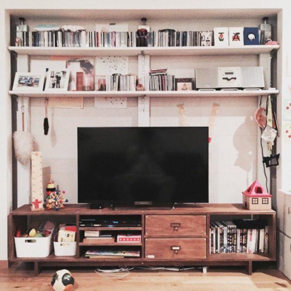 テレビの壁面収納実例8