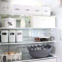 【100均、ニトリ、IKEA、無印】白、透明の収納アイテムで冷蔵庫もスッキリしましょ♡