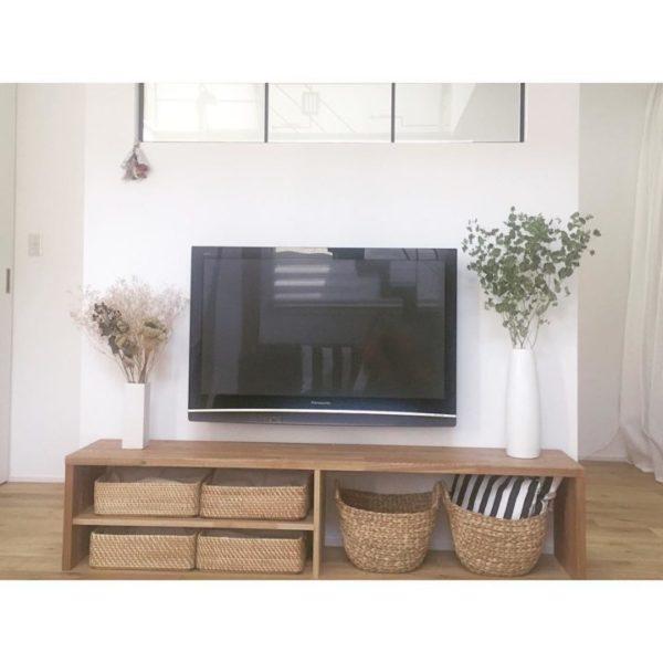 テレビの壁面収納実例22