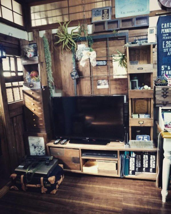 テレビの壁面収納実例23