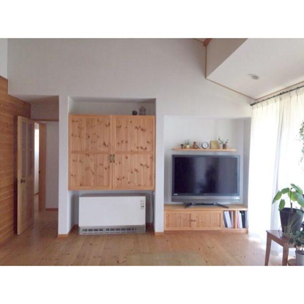 テレビの壁面収納実例29