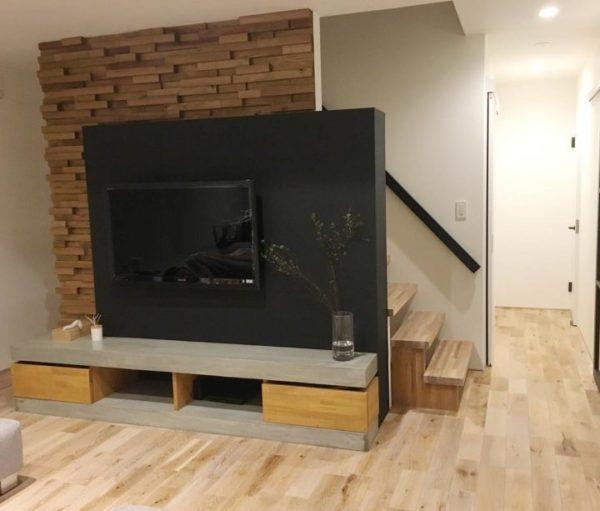 テレビの壁面収納実例33