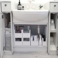 収納上手さんたちに学ぶ◎プチプラアイテムを使った、洗面台下の収納術!