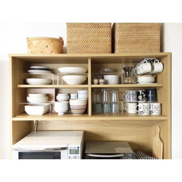 Kitchen,ラベル,食器棚収納,食器棚,整理収納,白黒,