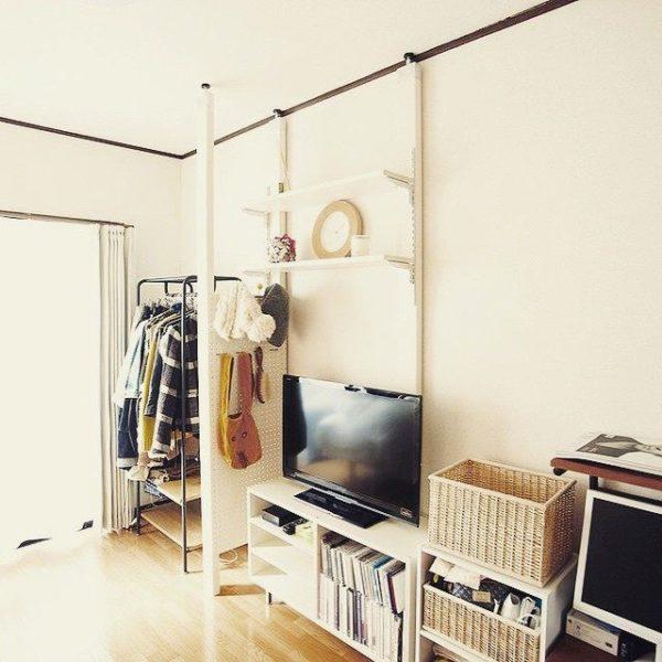 テレビの壁面収納実例4