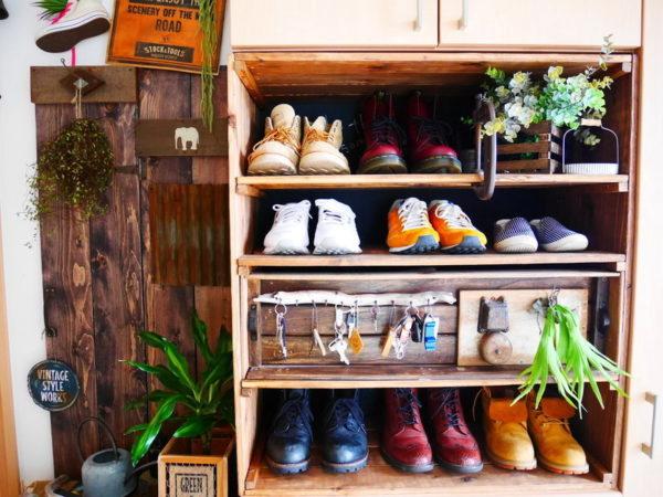 すのこ靴箱・実例7