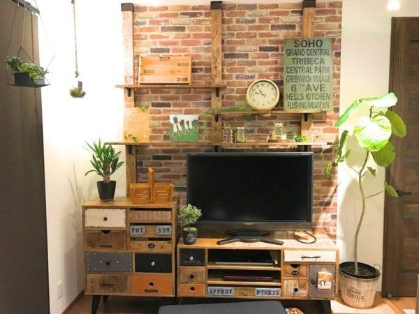 テレビの壁面収納実例31