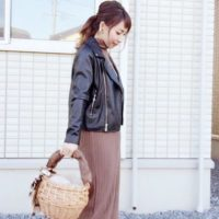今年の秋はちょっぴり辛口に♡GUのライダースジャケットで作る秋コーデ!