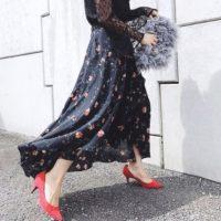 秋はやっぱり花柄スカート♡花柄スカートを使った秋コーデをご紹介します♪