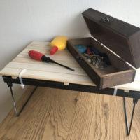 【100均DIY動画】ダイソーすのこで簡易テーブルをDIY!折り畳みもできる作業台に♪