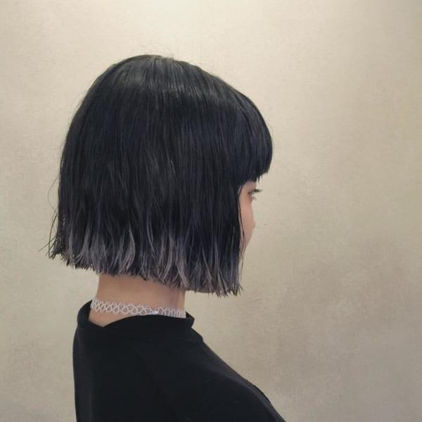 前下がりボブ髪型例27