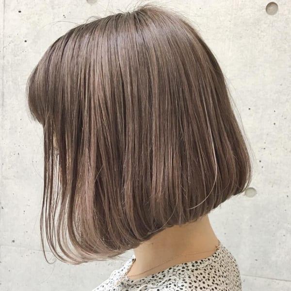 前下がりボブ髪型例28