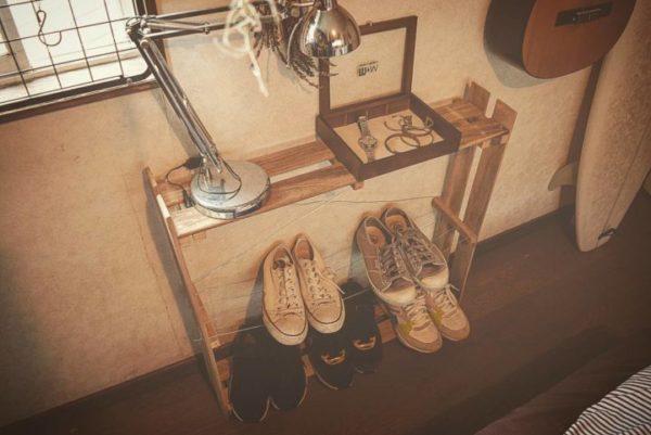すのこ靴箱・実例2