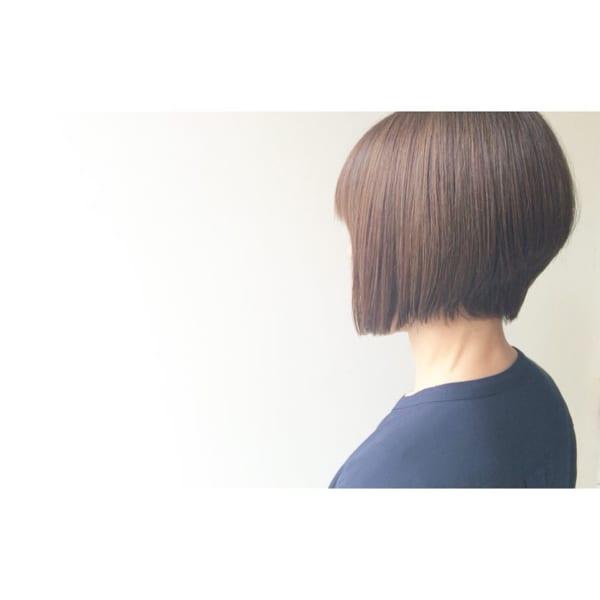 前下がりボブ髪型例32