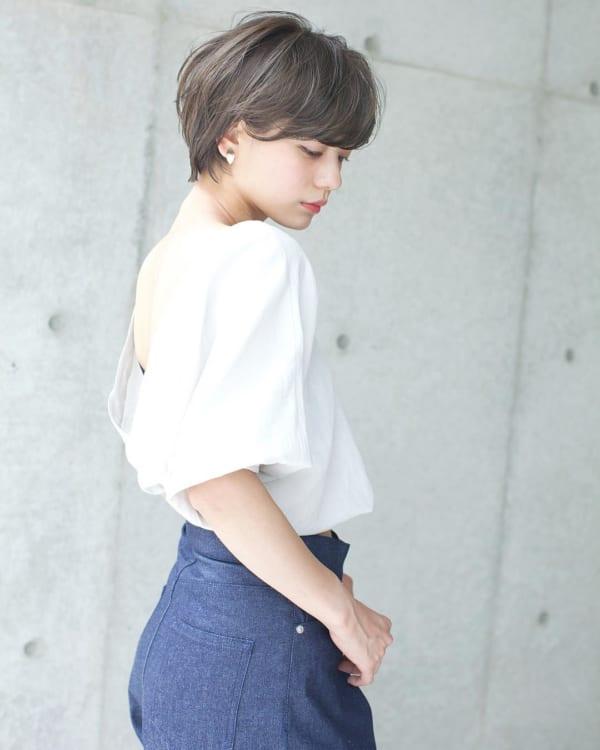 内巻きパーマ ショート10