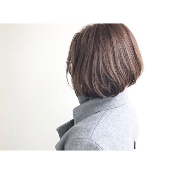前下がりボブ髪型例34