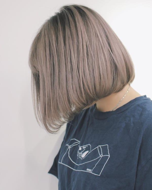 前下がりボブ髪型例35
