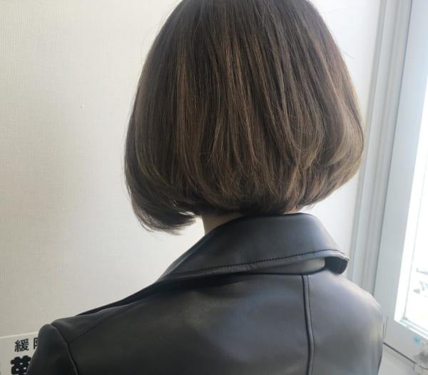 前下がりボブ髪型例36