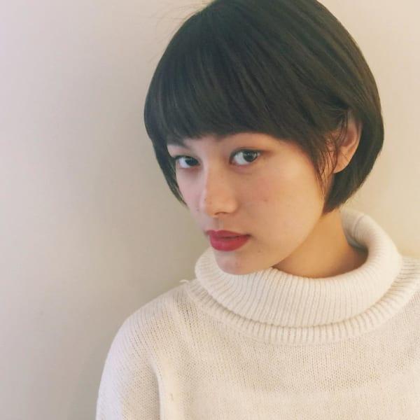 【ショート】前髪ぱっつん髪型集16