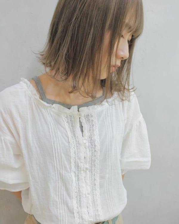 ふわっとウェーブ髪型例15
