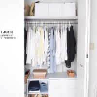 大切な衣服のクローゼット収納術!美しいスッキリ収納アイデアお見せします♡