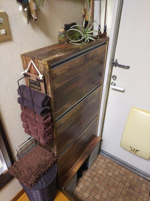 DIYで靴箱をイメージチェンジ!4