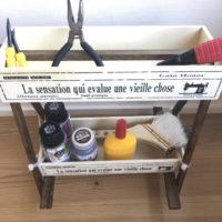 【100均DIY動画】イーゼルで二段ボックスをDIY!工具収納にぴったり