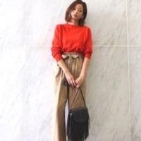 赤い洋服で作るおしゃれスタイル18選!暖色コーデで秋を満喫しよう♪