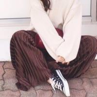 秋冬素材のワイドパンツがかわいい♡ベロアもコーデュロイもおしゃれに着こなそう♪