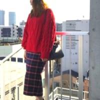 プチプラ可愛いGUアイテム♪『チェックナローミディスカート』のおしゃれコーデをご紹介!