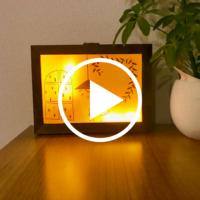 【100均DIY動画】セリアのLEDランプでディスプレイライトをDIY