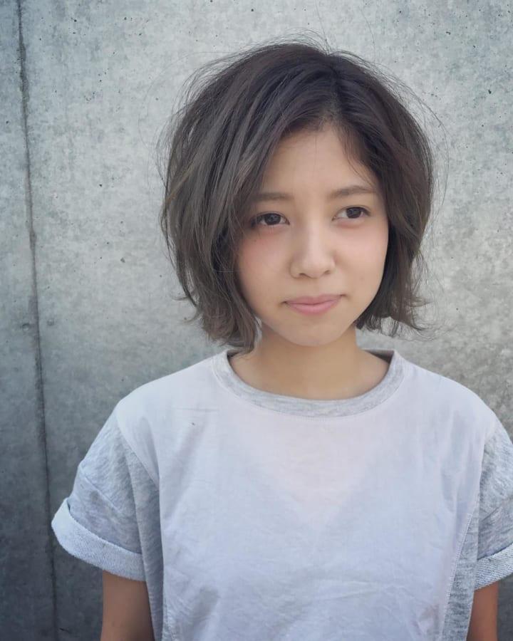 丸顔ショート48