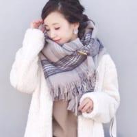 チェック柄ストールコーデ15選♡おしゃれなストールで寒い秋冬を可愛く過ごす