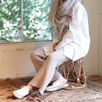 TODAYFULのラフニットパンツ&シルクパンツが優秀☆楽チンなのに完璧なシルエット!