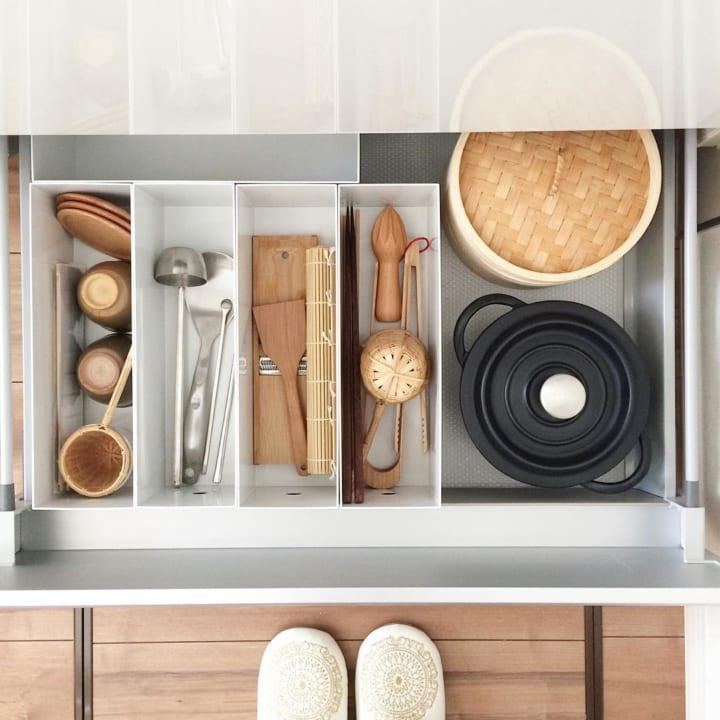 おすすめキッチン収納アイテム④ 無印良品実例2