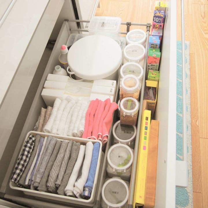 キッチン収納アイデア① 引き出し実例6
