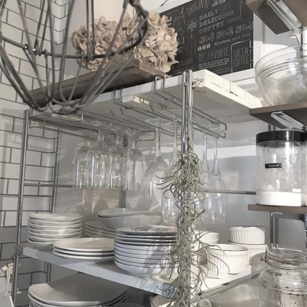 キッチン収納アイデア⑦ 吊り下げ収納実例3