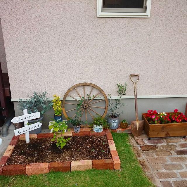 レンガで花壇をDIYしよう!4