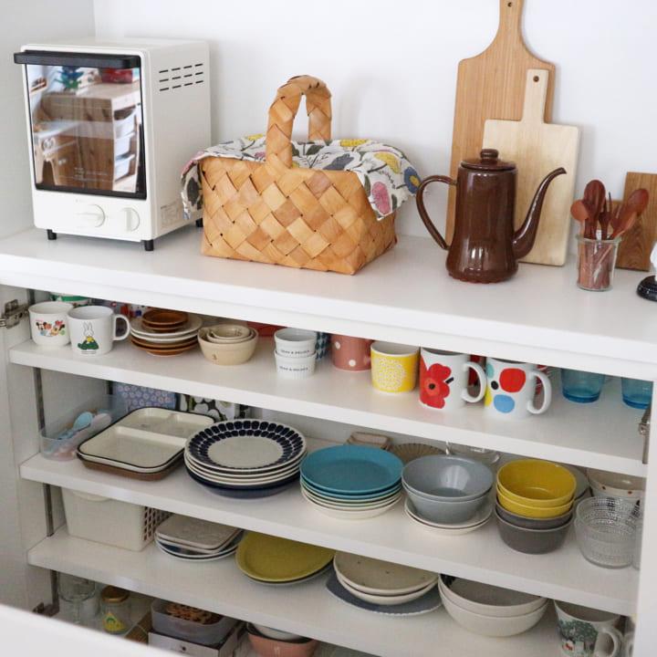 キッチンのカウンター下収納実例12
