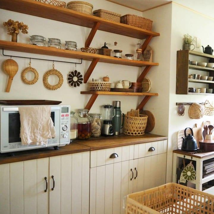 キッチンのカウンター下収納実例10