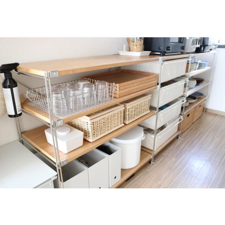 キッチンのカウンター下収納実例7